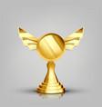 winner golden cup gilded metal object vector image