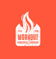workout club emblem for t-shirt vector image vector image