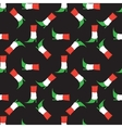 Seamless pattern with Italian flag colorsboot vector image