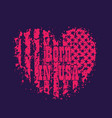 born in usa grunge heart with american flag vector image