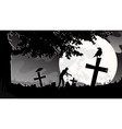panorama landscape cemetery vector image