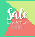sale fifty percent off online shopping template vector image