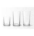 transparent glasses goblets set vector image