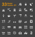 33 hotel icons 01 vector image vector image