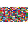 all national flags world background style vector image
