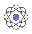 atom in color crayon silhouette vector image vector image