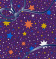 Background colored stars vector image