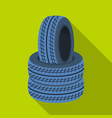 Barricade of tirespaintball single icon in flat vector image