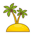 beach palms sand vacations image vector image