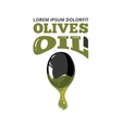 big black olive with oil vector image vector image