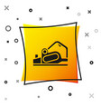 black electric planer tool icon isolated on white vector image vector image