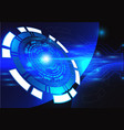 blue technology background abstract digital tech vector image vector image