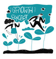 businessman step up the leaf vector image