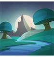 Cartoon Fantasy Landscape vector image vector image