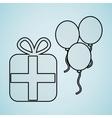 celebration party icon design vector image