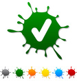 Check blot vector image