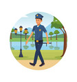 city person alone at park cartoons vector image vector image