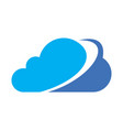 cloud computing data logo icon vector image