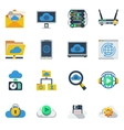 Cloud Service Flat Color Icons vector image vector image