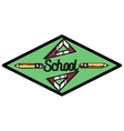 Color vintage back to school emblem vector image vector image