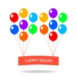 Colorful balloons flat style card template vector image