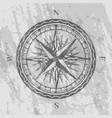 compass rose on grunge grey background vector image