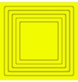 Concentric Yellow 6 Square Background vector image vector image
