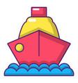 cruise ship icon cartoon style vector image