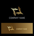 curve abstract gold logo vector image vector image