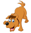cute cartoon dog vector image