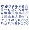 Different symbols created by mankind vector image