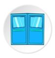 Double door for restaurant icon cartoon style vector image vector image