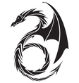 dragon tattoo design vector image vector image