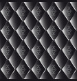 drawing of black quilted leather with geometric vector image