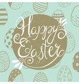 easter greeting blue vector image vector image