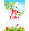 easter holiday card vector image