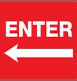 enter icon sign eps10 vector image