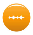 equalizer sound radio icon orange vector image vector image