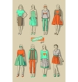 fashion girls hipsters set vector image vector image