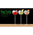 Fitness cocktails vector image
