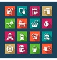 flat cleaning icons vector image