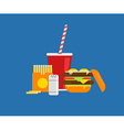 Fresh burger Traditional american burger with vector image vector image
