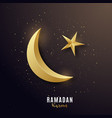 golden 3d luxury crescent greeting banner vector image