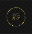 golden magic happy new year circle 2021 vector image