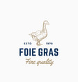 goose pate foie gras abstract sign symbol vector image vector image