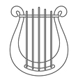 Harp icon outline style vector image vector image