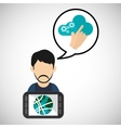 Internet design communication concept flat vector image vector image