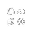 journey path map line icon project process sign vector image vector image