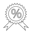Label discount icon outline style vector image vector image