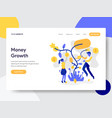 landing page template tree money growth vector image vector image